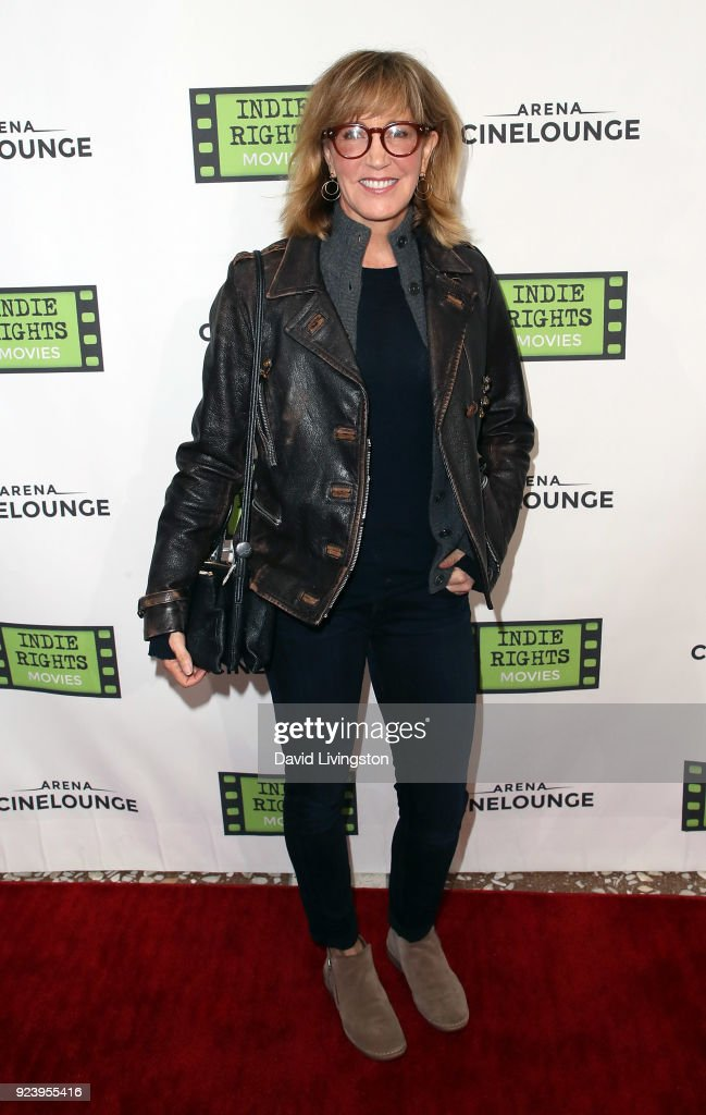 Actress Felicity Huffman attends the premiere of Indie Rights' 'Confessions of a Teenage Jesus Jerk' at Arena Cinelounge on February 24, 2018 in Hollywood, California.
