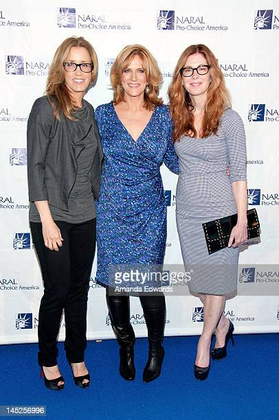 Actress Felicity Huffman comedian/writer Carol Leifer and actress Dana Delany arrive at the NARAL ProChoice America's 2012 Los Angeles Power Of...