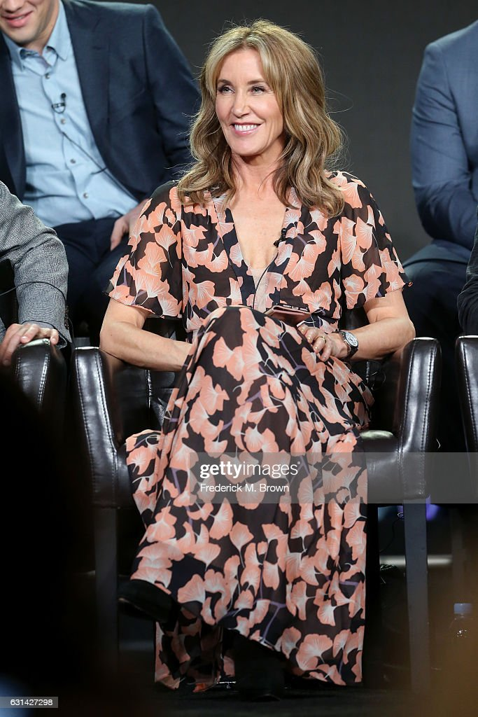 Actress Felicity Huffman of the television show 'American Crime' speaks onstage during the Disney-ABC portion of the 2017 Winter Television Critics Association Press Tour at Langham Hotel on January 10, 2017 in Pasadena, California.