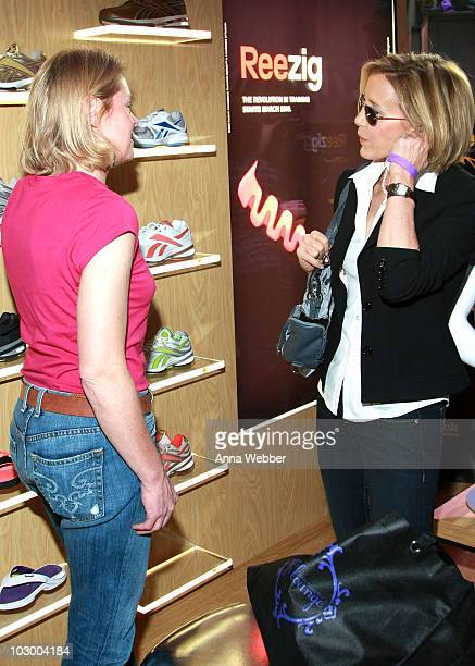 Actress Felicity Huffman poses at Reebok during the Kari Feinstein Golden Globes Style Lounge at Zune LA on January 14, 2010 in Los Angeles,...