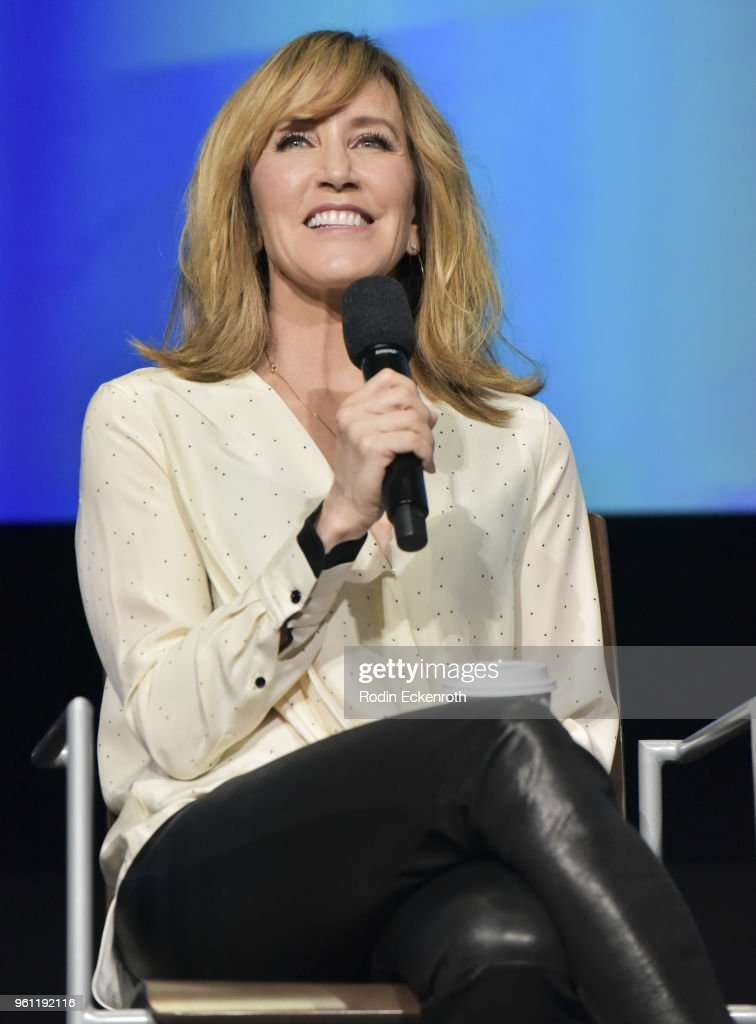 Actress Felicity Huffman speaks onstage at the Women in Entertainment and The Television Academy Foundation's Inaugural Women in Television Summit at Saban Media Center on May 21, 2018 in North Hollywood, California.