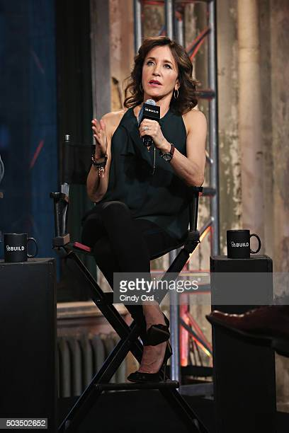 Actress Felicity Huffman takes part in the AOL BUILD Series Felicity Huffman and John Ridley American Crime season two at AOL Studios on January 5...