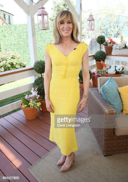 Actress Felicity Huffman visits Hallmark's Home Family at Universal Studios Hollywood on April 10 2018 in Universal City California