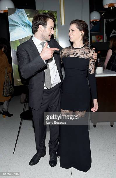 Actress Felicity Jones and actor Charlie Cox attend 'The Theory Of Everything' New York Premiere After Party at Museum of Modern Art on October 20...