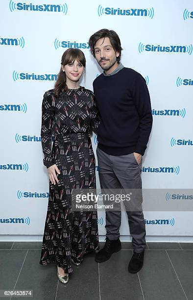 Actress Felicity Jones and actor Diego Luna attend SiriusXM's Town Hall With The Cast Of 'Rogue One A Star Wars Story' Town Hall to air on SiriusXM's...