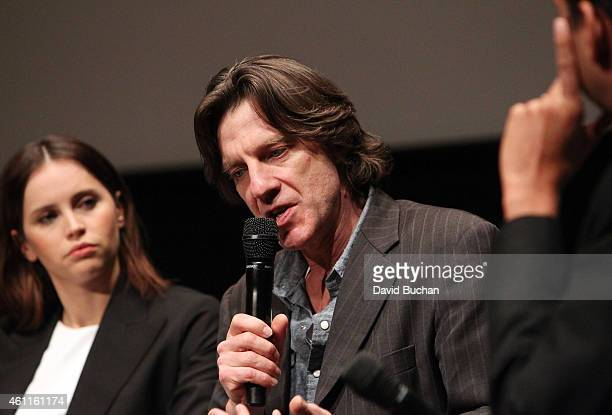Actress Felicity Jones and director James Marsh attend The Contenders Screening and QA of The Theory of Everything at Billy Wilder Theater at The...