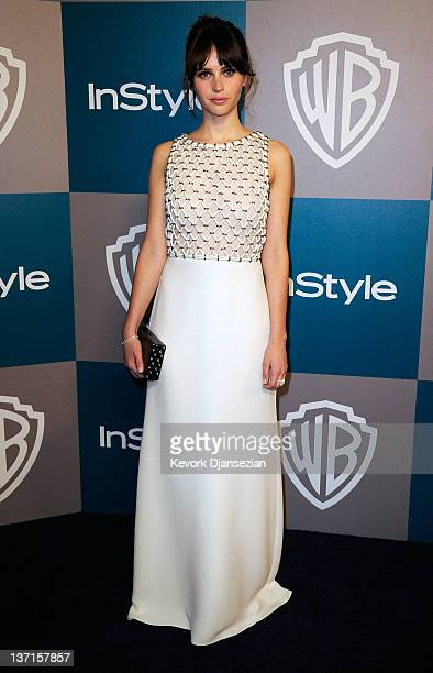 Actress Felicity Jones arrives at 13th Annual Warner Bros And InStyle Golden Globe Awards After Party at The Beverly Hilton hotel on January 15 2012...