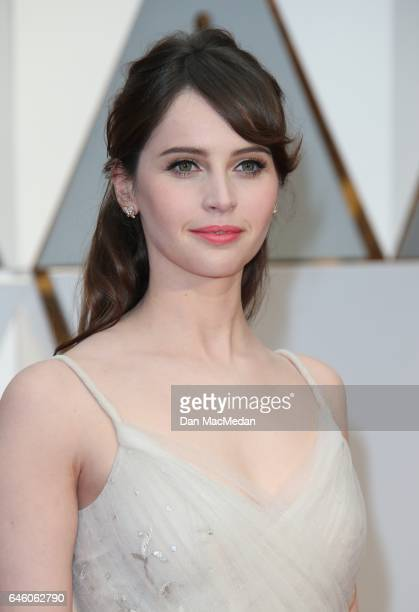 Actress Felicity Jones arrives at the 89th Annual Academy Awards at Hollywood Highland Center on February 26 2017 in Hollywood California