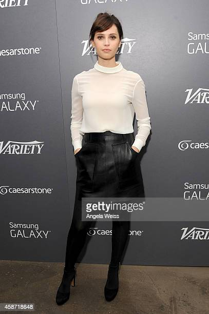 Actress Felicity Jones attends day two of Variety Studio: Actors On Actors presented by Samsung Galaxy on November 9, 2014 in Los Angeles, California.