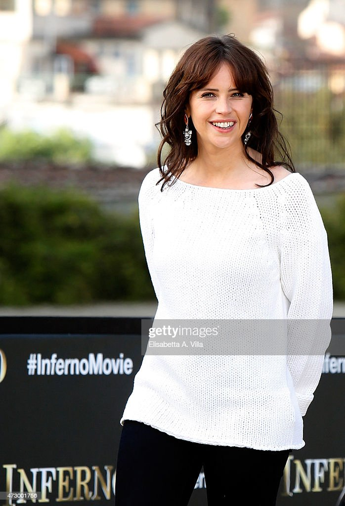 Actress Felicity Jones attends 'Inferno' photocall at Palazzo Pitti on May 11, 2015 in Florence, Italy.