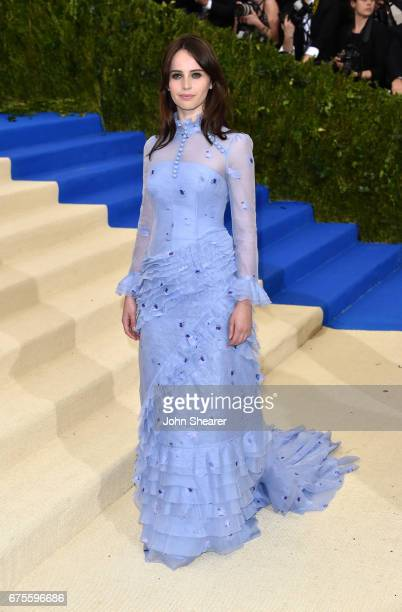 Actress Felicity Jones attends 'Rei Kawakubo/Comme des Garcons Art Of The InBetween' Costume Institute Gala at Metropolitan Museum of Art on May 1...