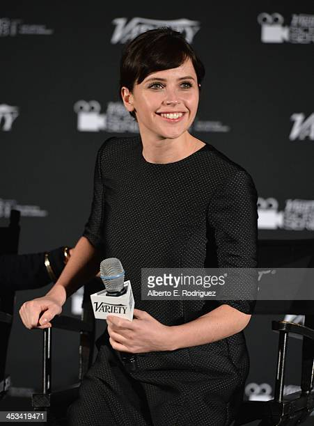 Actress Felicity Jones attends the 2013 Variety Screening Series of The Invisible Woman at ArcLight Cinemas on December 3 2013 in Hollywood California