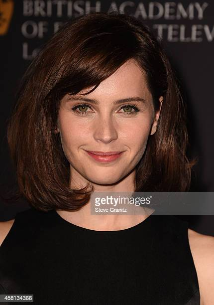 Actress Felicity Jones attends the 2014 BAFTA Los Angeles Jaguar Britannia Awards Presented By BBC America And United Airlines at The Beverly Hilton...