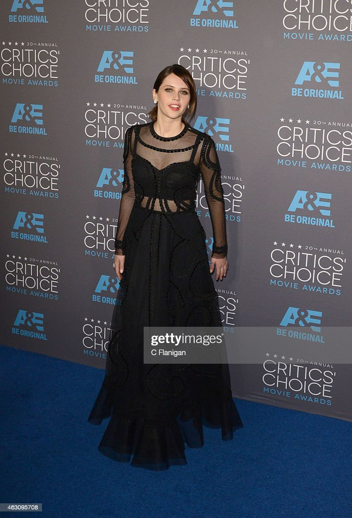 Actress Felicity Jones attends The 20th Annual Critics' Choice Movie Awards at Hollywood Palladium on January 15, 2015 in Los Angeles, California.