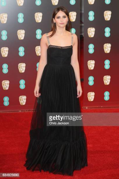 Actress Felicity Jones attends the 70th EE British Academy Film Awards at Royal Albert Hall on February 12 2017 in London England
