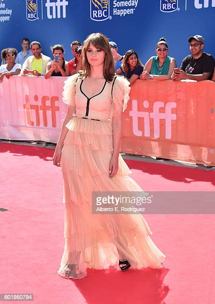 Actress Felicity Jones attends the A Monster Calls premiere during the 2016 Toronto International Film Festival at Roy Thomson Hall on September 10...