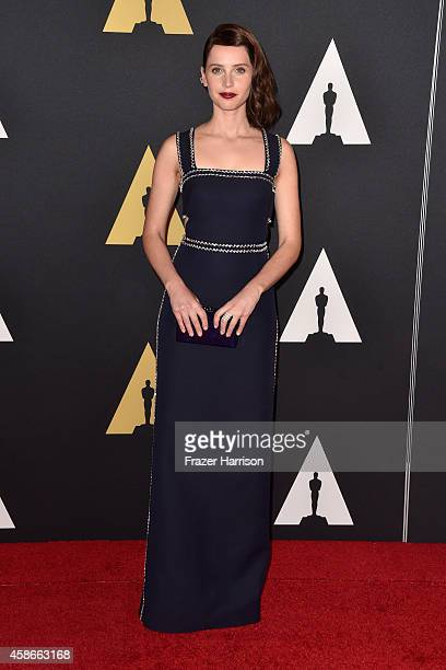 Actress Felicity Jones attends the Academy Of Motion Picture Arts And Sciences' 2014 Governors Awards at The Ray Dolby Ballroom at Hollywood Highland...