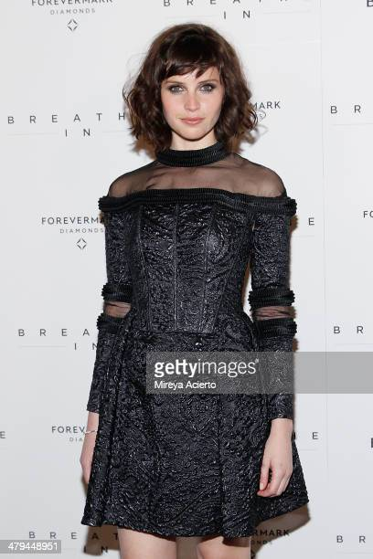 Actress Felicity Jones attends the Breathe In premiere at Sunshine Landmark on March 18 2014 in New York City