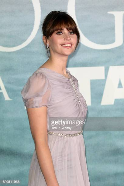 Actress Felicity Jones attends the launch event for Rogue One A Star Wars Story at Tate Modern on December 13 2016 in London England