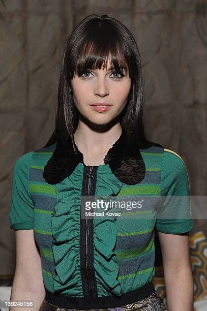 Actress Felicity Jones attends the Marni at H&M Collection Launch at Lloyd Wright's Sowden House on February 17, 2012 in Los Angeles, California.