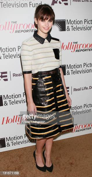Actress Felicity Jones attends the Motion Picture Television Fund's 'Reel Stories Real Lives' at Milk Studios on November 5 2011 in Los Angeles...