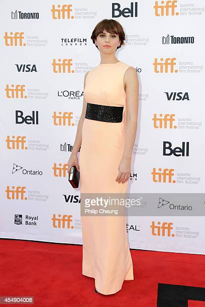 Actress Felicity Jones attends the premiere of The Theory Of Everything during the 2014 Toronto International Film Festival at Princess of Wales...