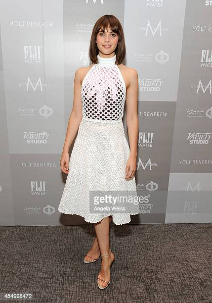 Actress Felicity Jones attends the Variety Studio presented by Moroccanoil at Holt Renfrew during the 2014 Toronto International Film Festival on...