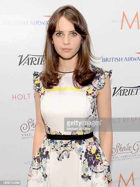 Actress Felicity Jones attends Variety Studio Presented by Moroccanoil at Holt Renfrew during the 2013 Toronto International Film Festival on...