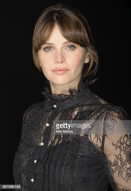 Actress Felicity Jones is photographed for Los Angeles Times on November 12 2016 in Los Angeles California PUBLISHED IMAGE CREDIT MUST READ Kirk...