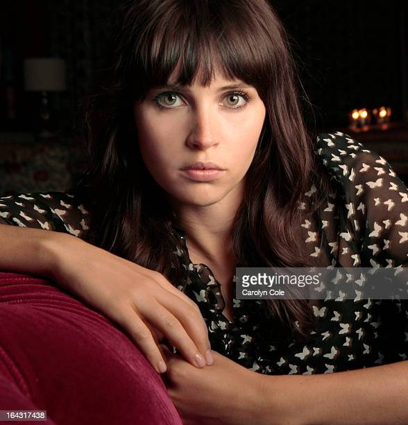 Actress Felicity Jones is photographed for the Los Angeles Times on December 1 2011 in New York City PUBLISHED IMAGE CREDIT MUST BE Carolyn Cole/Los...