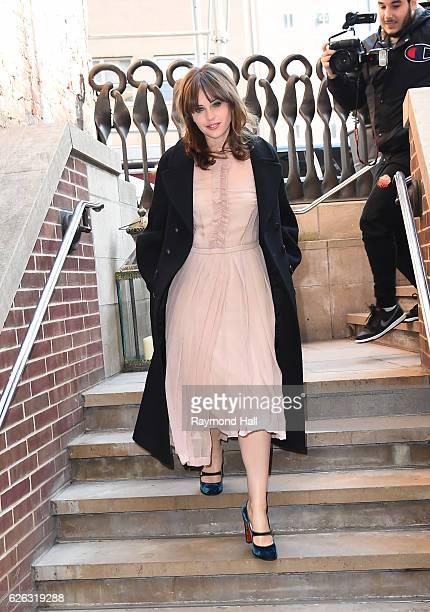 Actress Felicity Jones is seen on November 28, 2016 in New York City.