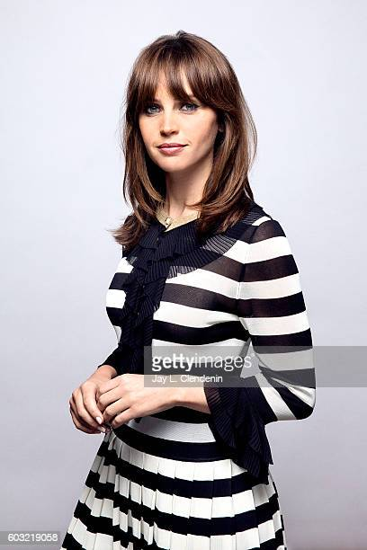 Actress Felicity Jones of ' The Monster Calls' poses for a portraits at the Toronto International Film Festival for Los Angeles Times on September 11...