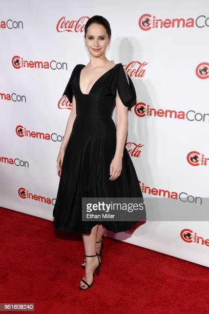 Actress Felicity Jones recipient of the Award of Excellence in Acting attends the CinemaCon Big Screen Achievement Awards brought to you by the...