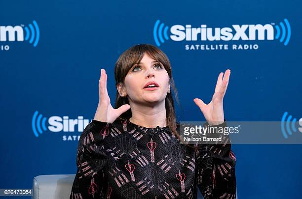 Actress Felicity Jones speaks during SiriusXM's Town Hall With The Cast Of 'Rogue One A Star Wars Story' Town Hall to air on SiriusXM's Entertainment...