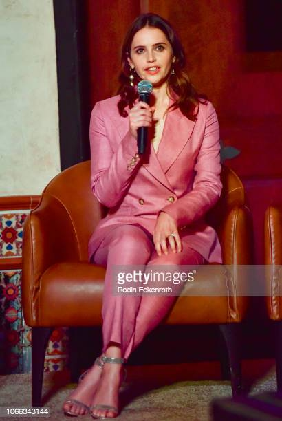 Actress Felicity Jones speaks onstage at AFI FEST 2018 Presented by Audi Indie Contenders at The Hollywood Roosevelt Hotel on November 11 2018 in Los...
