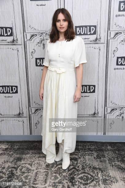 "Actress Felicity Jones visits the Build Series to discuss the Amazon Studios film ""The Aeronauts"" at Build Studio on December 03 2019 in New York City"