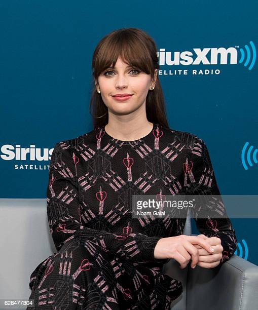 Actress Felicity Jones visits the SiriusXM Studio on November 29 2016 in New York City