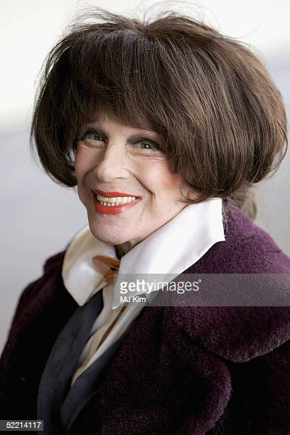 Actress Fenella Fielding arrives at the 'Norman At Ninety' Tribute Luncheon at the Royal Lancaster Hotel on February 18 2005 in London Members of...