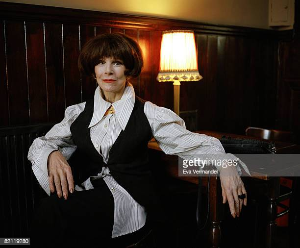 Actress Fenella Fielding poses for a portrait shoot for the Indepenedent magazine in London on February 24 2008