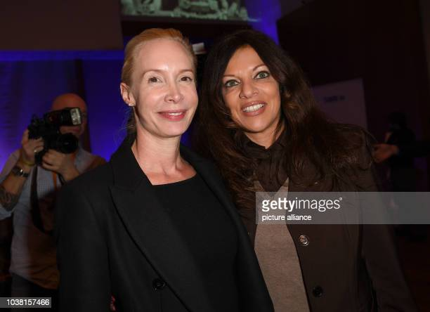 Actress Feo Aladag and producer Alice Brauner taking part in the prereception event of the producers' alliance on the occasion of the 150th birthday...