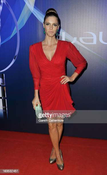 Actress Fernanda Lima attends the 2013 Laureus World Sports Awards at the Theatro Municipal Do Rio de Janeiro on March 11 2013 in Rio de Janeiro...