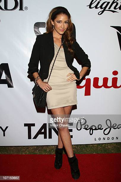 Actress Fernanda Romero attends the Esquire Mexico Magazine 2nd Anniversary Masquerade Party at Reforma 423 on November 25 2010 in Mexico City Mexico