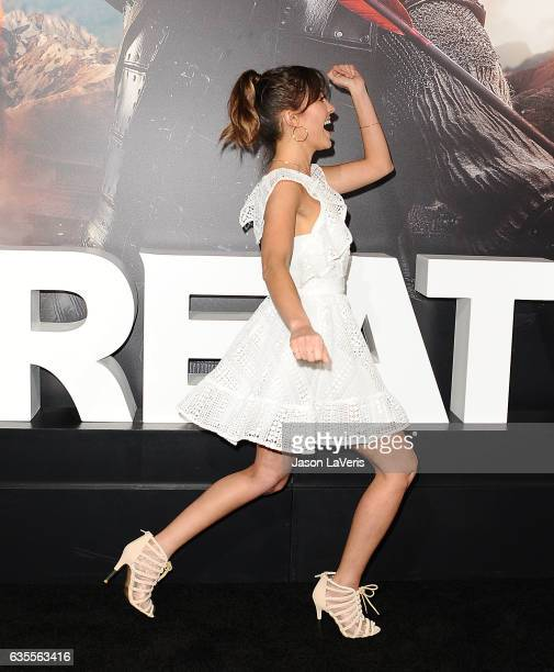 Actress Fernanda Romero attends the premiere of The Great Wall at TCL Chinese Theatre IMAX on February 15 2017 in Hollywood California