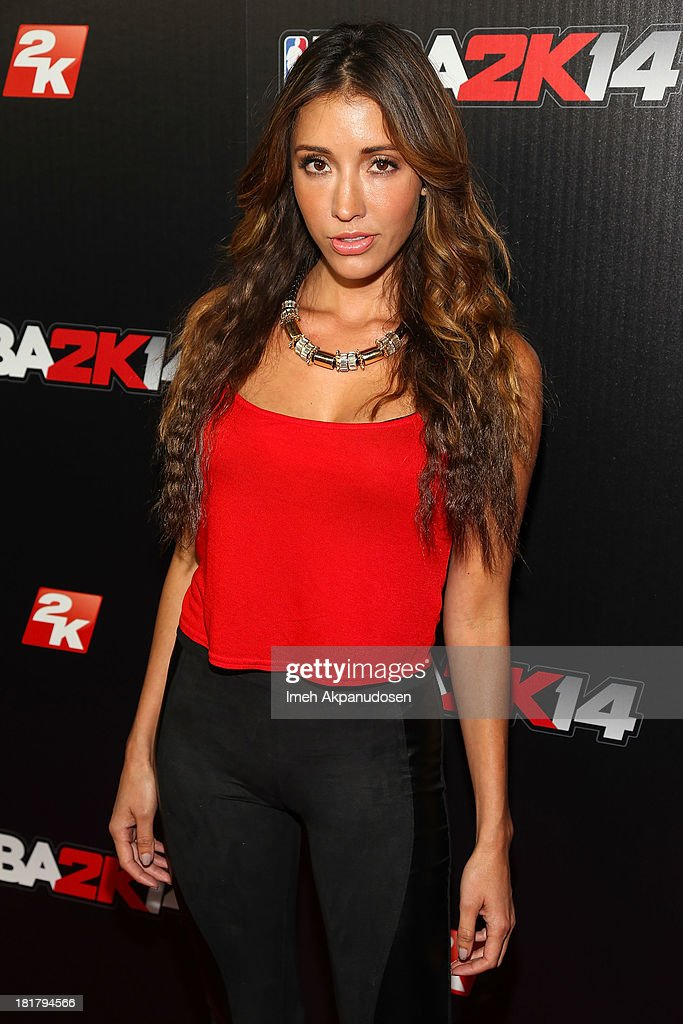 Actress Fernanda Romero attends the premiere party for the NBA2K14 video game at Greystone Mansion on September 24, 2013 in Beverly Hills, California.