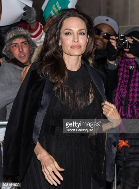 Actress filmmaker and humanitarian Angelina Jolie is seen arriving to the 2018 National Board of Review Awards Gala at Cipriani 42nd Street on...