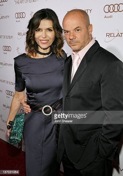 Actress Finola Hughes and Russel Young arrive at Audi presents The Art of Elysium's 5th annual HEAVEN at Union Station on January 14, 2012 in Los...