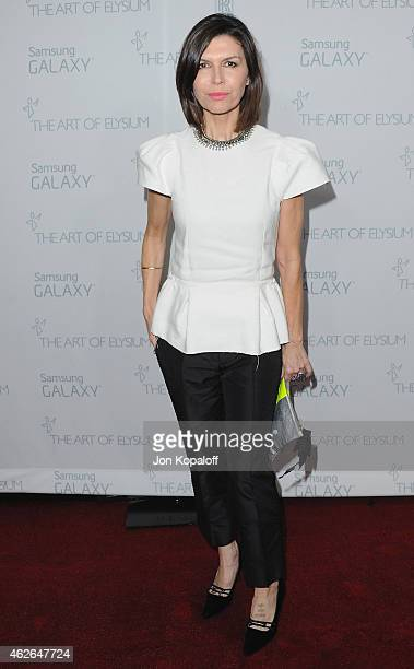 Actress Finola Hughes arrives at The Art Of Elysium 8th Annual Heaven Gala at Hangar 8 on January 10 2015 in Santa Monica California