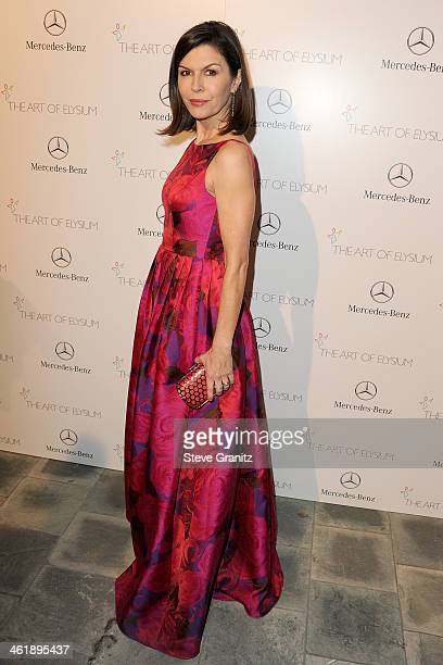 Actress Finola Hughes arrives at The Art of Elysium's 7th Annual HEAVEN Gala presented by MercedesBenz at Skirball Cultural Center on January 11 2014...