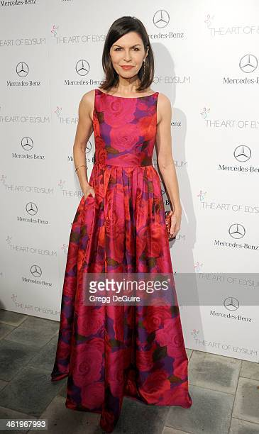 Actress Finola Hughes arrives at The Art of Elysium's 7th Annual HEAVEN Gala at the Guerin Pavilion at the Skirball Cultural Center on January 11...