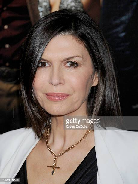 Actress Finola Hughes arrives at the Los Angeles premiere of 'American Hustle' at Directors Guild Theatre on December 3 2013 in West Hollywood...